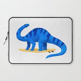 Awsome Apatosaurus Surfing Laptop Sleeve