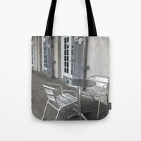 cafe Tote Bags featuring Cafe by David Turner