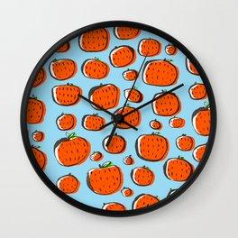 Naranjas de invierno Wall Clock