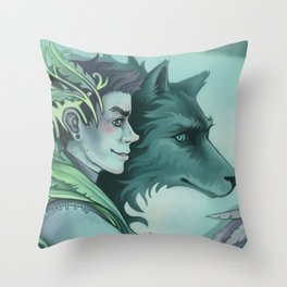 The Forest Prince Throw Pillow