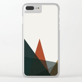 Abstract and geometric landscape 01 Clear iPhone Case