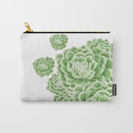 Green Succulent Carry-All Pouch