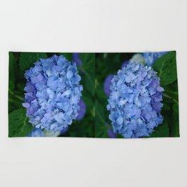 Blue hydrangea Beach Towel