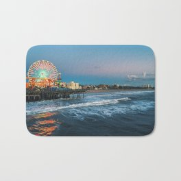 Wheel of Fortune - Santa Monica, California Bath Mat