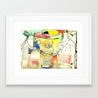 kitchen Framed Art Prints featuring kitchen by Matteo Lotti