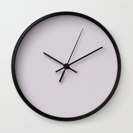 Solid Colors Series - Light Orchid Wall Clock