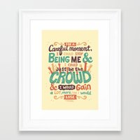 it crowd Framed Art Prints featuring Crowd by Risa Rodil