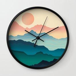 Wanderlust Gradient Mountain Wall Clock