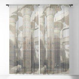 Karnac (Karnak) illustration by David Roberts (1796–1864)cc Sheer Curtain