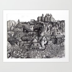 Black and White 4 Art Print