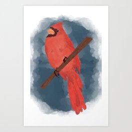 Virginia- Northern Cardinal by Kayla Kinsella Meier Art Print