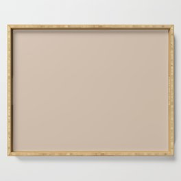 Soft Desert Beige - Solid Color Pastel Trend Serving Tray