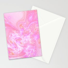 Neon Pink Fantasy Marble Stationery Cards