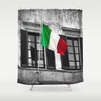 italian Shower Curtains featuring Italian Pride by Liesl Marelli