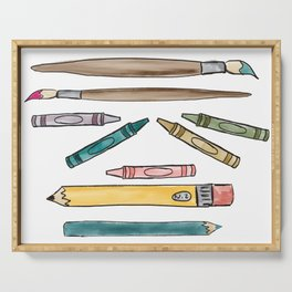Back To School Art Supplies Serving Tray