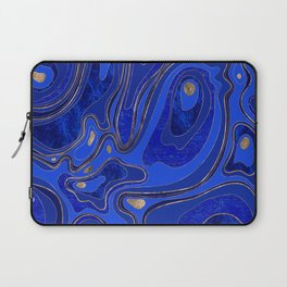 Marble Map - blue and gold Laptop Sleeve