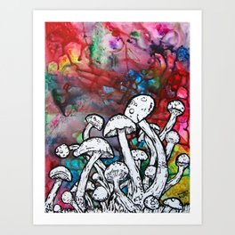 shrooms Art Print