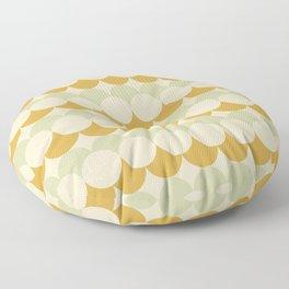 Retro Circular Pattern III Floor Pillow