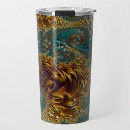 Marigold Garden - Fractal Art Travel Mug