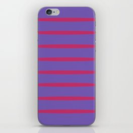 Violet and red iPhone Skin