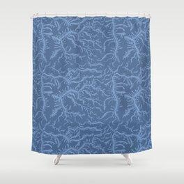 Ferning - Blue Shower Curtain