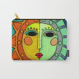 Moon and Sun Abstract Digital Painting Carry-All Pouch