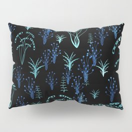 Blue luminescent Pillow Sham