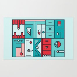Colorful typography - Mother Fucker Rug