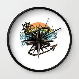 Nautical Splash Wall Clock