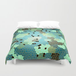 Turquoise Mosaic small pattern Duvet Cover