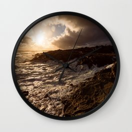 Evening Light and Surf Wall Clock