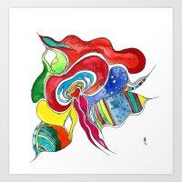 medusa Art Prints featuring Medusa by Gosia&Helena