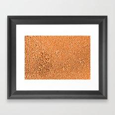 Water Condensation 05 Orange Framed Art Print