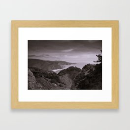 Overlooking the North Pacific Ocean Framed Art Print