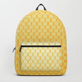 Yellow honeycomb pattern hexagon geometric Backpack