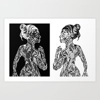maori Art Prints featuring Maori Sides by SarinneG