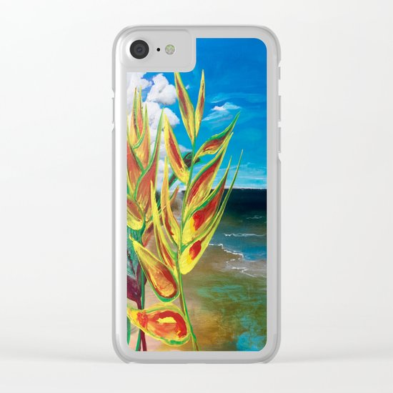 Heliconia Tropical Parrot Plant Take Me There Clear iPhone Case