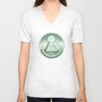 new order V-neck T-shirts featuring New Weed Order by mouseman