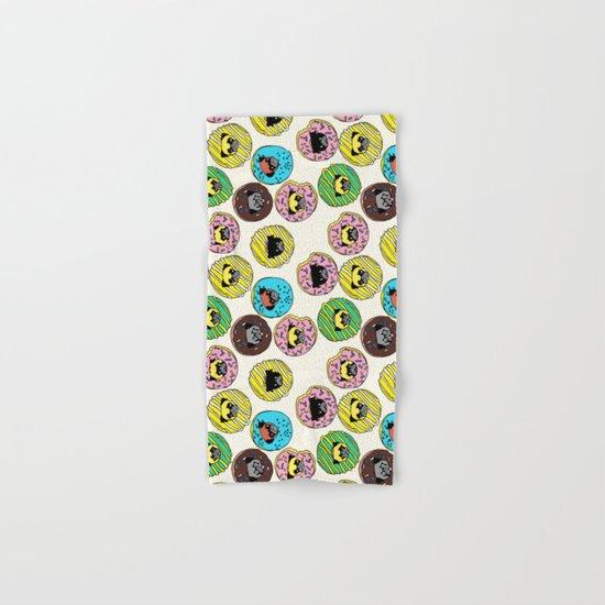 Pug Donuts Hand & Bath Towel