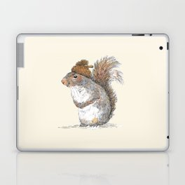 Squirrel with an Acorn Hat Laptop & iPad Skin