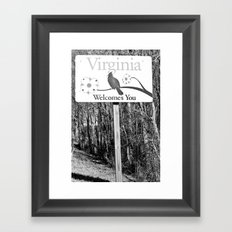 Virginia is for Lovers! Framed Art Print