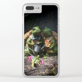 Together through thick and thin Clear iPhone Case