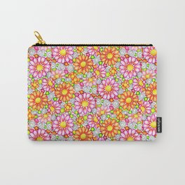 Summer Daisies Tiled Pattern Carry-All Pouch