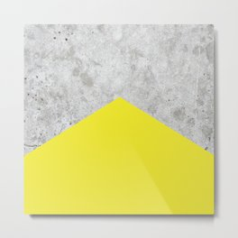 Concrete Arrow Yellow #193 Metal Print