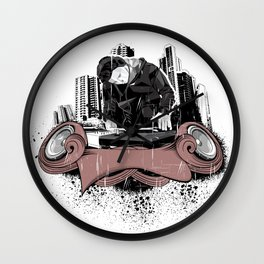 Poligonal Music Wall Clock