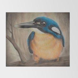 """The Patient Hunter"" - Original Artwork Print Throw Blanket"