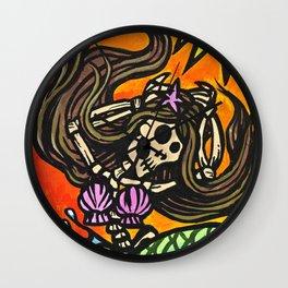 La Sirena (The Mermaid) Dia de los Muertos Wall Clock