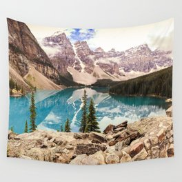 Moraine Lake III Banff Summer Mountain Reflection Wall Tapestry