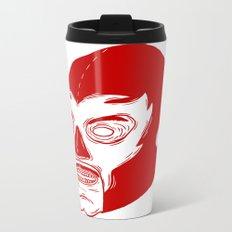 Red Luchador Metal Travel Mug