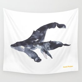 Humpback Whales Wall Tapestry